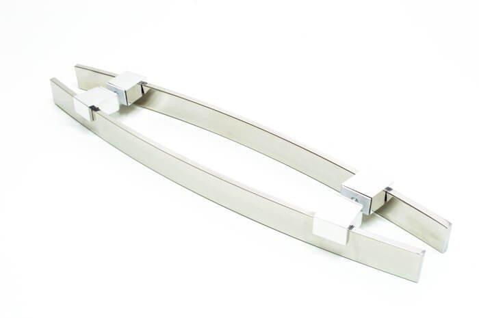 Puxador Para Portas Duplo AÇO INOX 304  POLIDO (ALBA).  - Loja do Puxador
