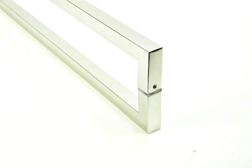 Puxador Para Portas Duplo AÇO INOX 304 POLIDO (SLIN).   - Loja do Puxador