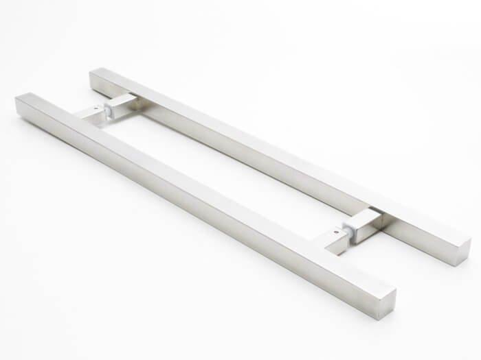 Puxador Para Portas Duplo AÇO INOX ESCOVADO (ARISTOCRATA).   - Loja do Puxador
