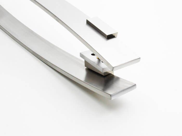 Puxador Para Portas Duplo AÇO INOX ESCOVADO (CENTAURUS). Para portas Pivotante /Madeira /Vidro/Alumínio .  - Loja do Puxador