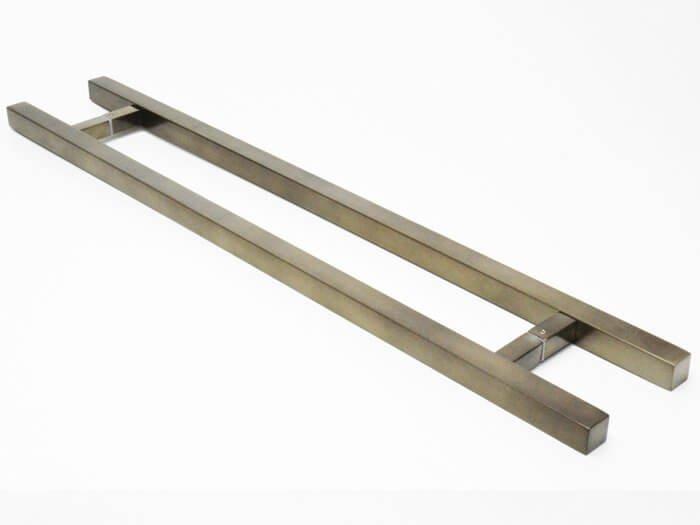Puxador Para Portas Duplo AÇO INOX  OURO VELHO ANTIQUE (ARISTOCRATA). Para portas Pivotante /Madeira /Vidro/Alumínio .  - Loja do Puxador