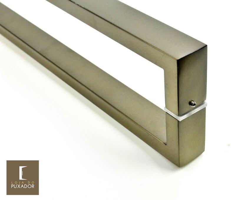 Puxador Para Portas Duplo AÇO INOX OURO VELHO ANTIQUE (GRECO). Para portas Pivotante /Madeira /Vidro/Alumínio .  - Loja do Puxador