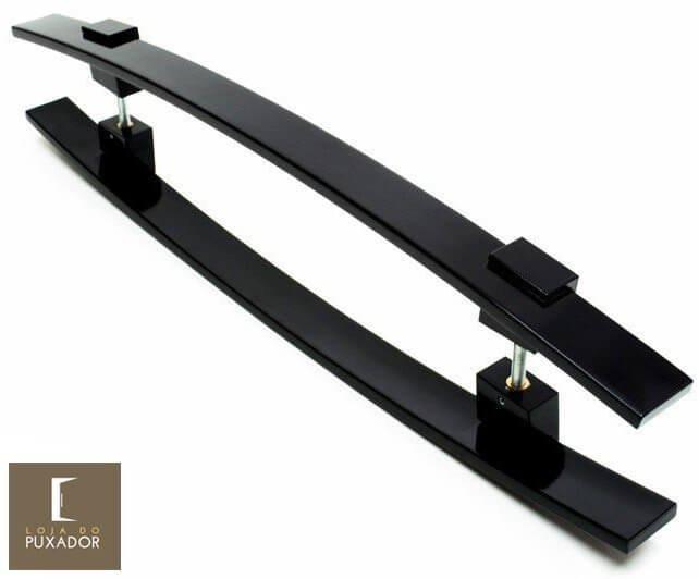 Puxador Para Portas Duplo AÇO INOX PRETO EPOXI  (ALBA). Para portas Pivotante /Madeira /Vidro/Alumínio .