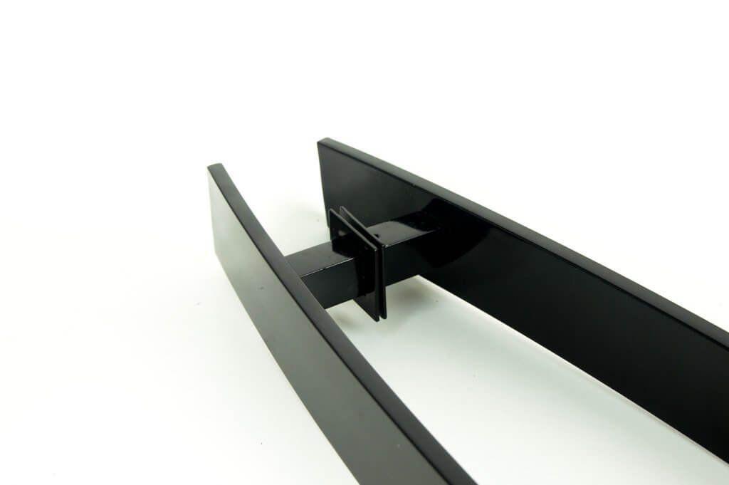 Puxador Para Portas Duplo AÇO INOX PRETO EPOXI (GRAND LUGUI).  - Loja do Puxador
