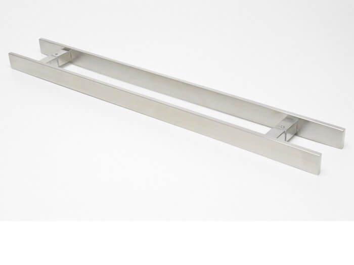 Puxador Para Portas Duplo INOX ESCOVADO (CLEAN) Tam.1MT. Para portas Pivotante /Madeira /Vidro/Alumínio.  - Loja do Puxador