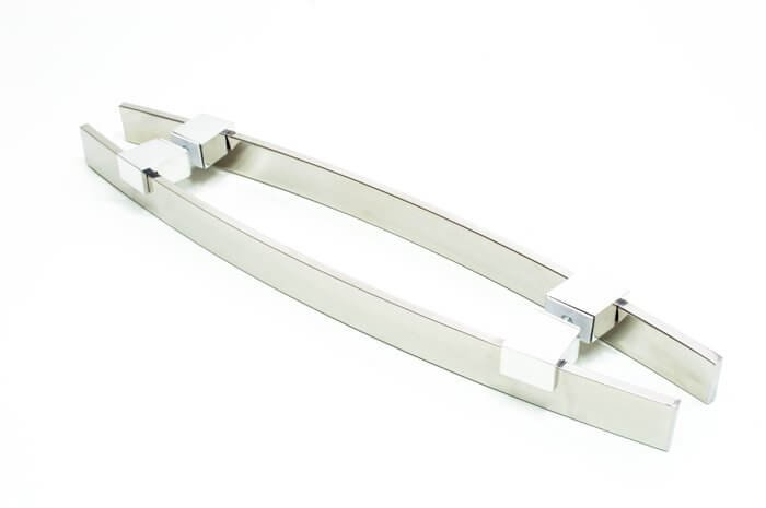 Puxador Para Portas Duplo INOX POLIDO (ALBA) Tam. 60 CM. Para portas Pivotante /Madeira /Vidro/Alumínio.  - Loja do Puxador