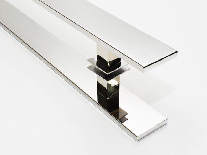 Puxador Para Portas Duplo INOX POLIDO (GRAND CLEAN) Tam. 1,2MT. Para portas Pivotante /Madeira /Vidro/Alumínio.  - Loja do Puxador