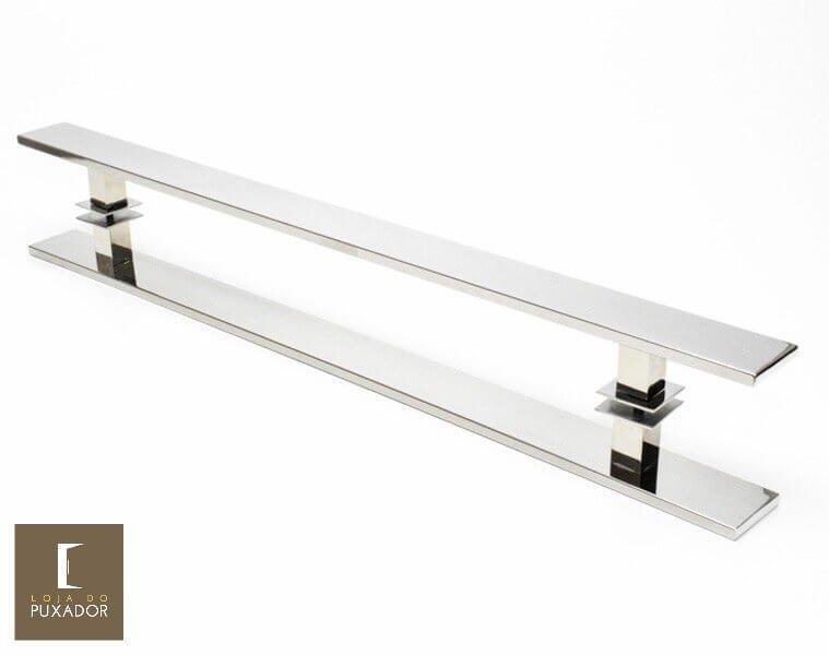 Puxador Para Portas Duplo INOX POLIDO (GRAND CLEAN) Tam.1MT. Para portas Pivotante /Madeira /Vidro/Alumínio.  - Loja do Puxador