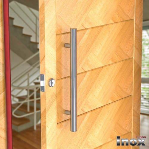 Puxador Para Portas Duplo INOX POLIDO (GRAND SOFT) Tam. 60 CM. Para portas Pivotante /Madeira /Vidro/Alumínio.  - Loja do Puxador