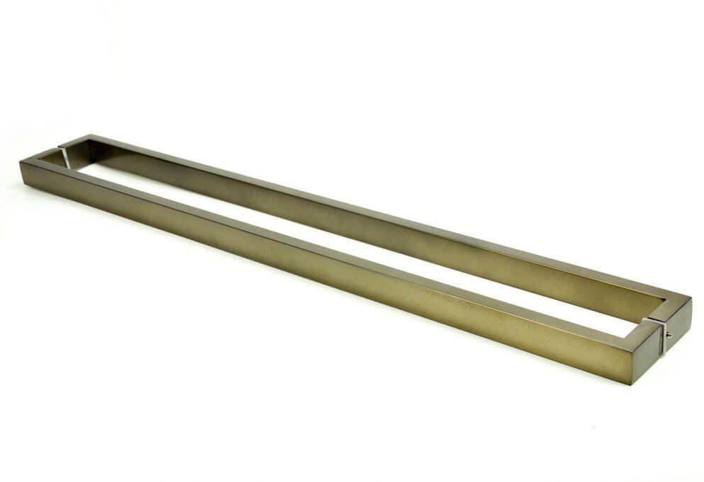 Puxador Portas Duplo Aço Inox Antique Ouro Velho Greco 1,2 m para portas: pivotantes/madeira/vidro temperado/porta alumínio e portões   - Loja do Puxador