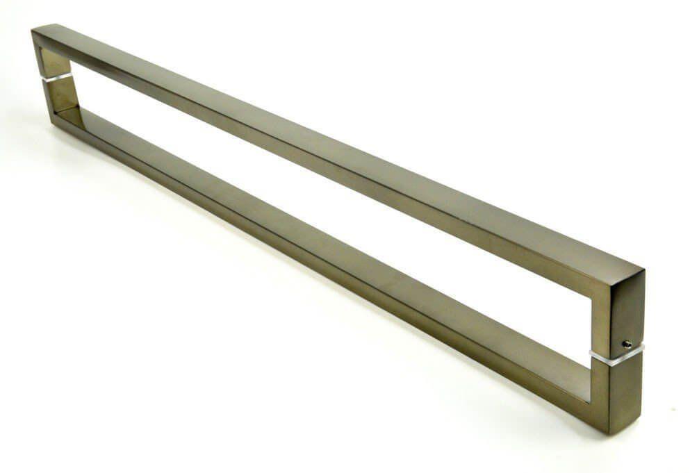 Puxador Portas Duplo Aço Inox Antique Ouro Velho Greco 60 cm para portas: pivotantes/madeira/vidro temperado/porta alumínio e portões   - Loja do Puxador