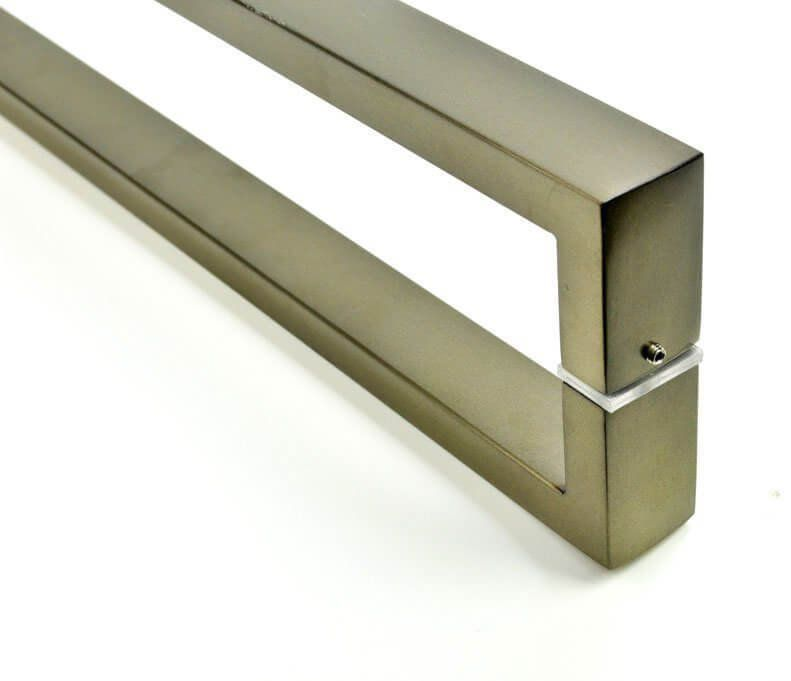 Puxador Portas Duplo Aço Inox Antique Ouro Velho Greco 70 cm para portas: pivotantes/madeira/vidro temperado/porta alumínio e portões   - Loja do Puxador