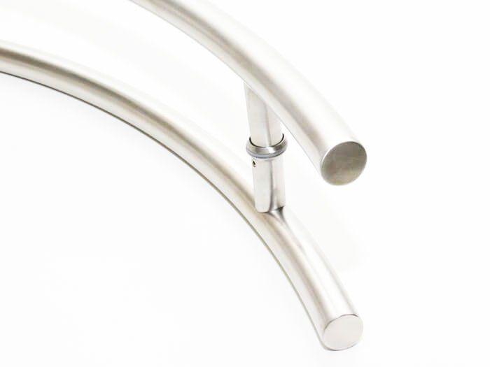 Puxador Portas Duplo Aço Inox Escovado Belissima 1 m para portas: pivotantes/madeira/vidro temperado/porta alumínio e portões   - Loja do Puxador
