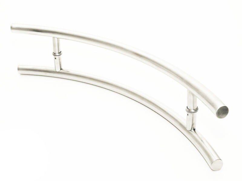 Puxador Portas Duplo Aço Inox Escovado Belissima 50 cm para portas: pivotantes/madeira/vidro temperado/porta alumínio e portões   - Loja do Puxador
