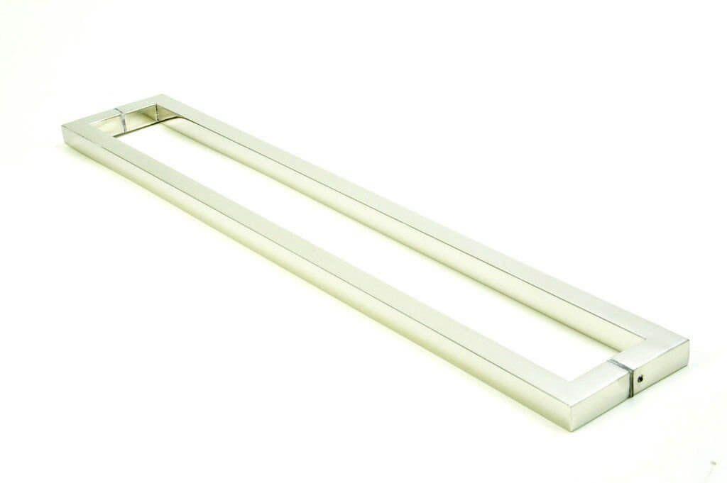 Puxador Portas Duplo Aço Inox Escovado Slin 2 m para portas: pivotantes/madeira/vidro temperado/porta alumínio e portões   - Loja do Puxador