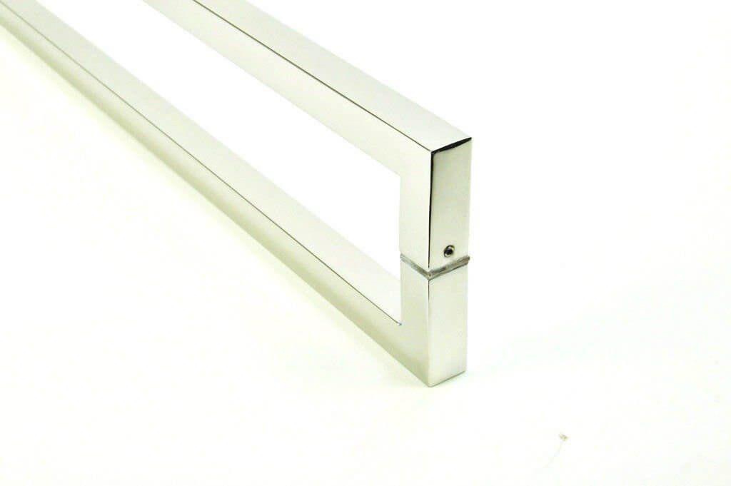 Puxador Portas Duplo Aço Inox Escovado Slin 80 cm para portas: pivotantes/madeira/vidro temperado/porta alumínio e portões   - Loja do Puxador