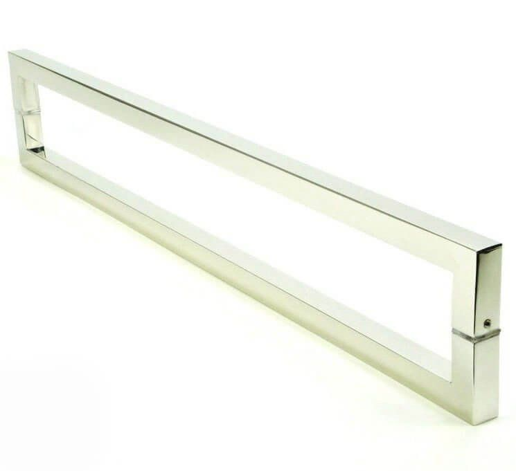 Puxador Portas Duplo Aço Inox Polido Slin 90 cm para portas: pivotantes/madeira/vidro temperado/porta alumínio e portões   - Loja do Puxador