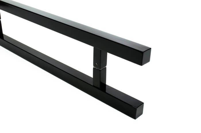 Puxador Portas Duplo Aço Inox Preto Aristocrata 40 cm para portas: pivotantes/madeira/vidro temperado/porta alumínio e portões   - Loja do Puxador