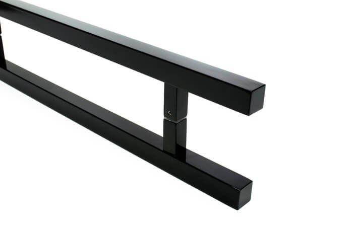 Puxador Portas Duplo Aço Inox Preto Aristocrata 50 cm para portas: pivotantes/madeira/vidro temperado/porta alumínio e portões   - Loja do Puxador