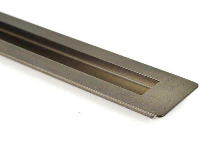 Puxador Portas Embutir Concha Aço Inox Antique Ouro Velho 25 cm para portas: pivotantes/madeira/vidro temperado/porta alumínio e portões   - Loja do Puxador