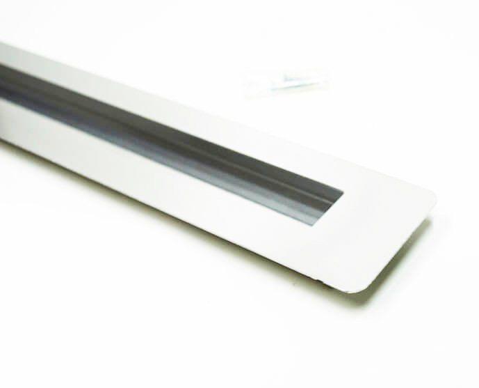 Puxador Portas Embutir Concha Aço Inox Escovado 1 m para portas: pivotantes/madeira/vidro temperado/porta alumínio e portões   - Loja do Puxador