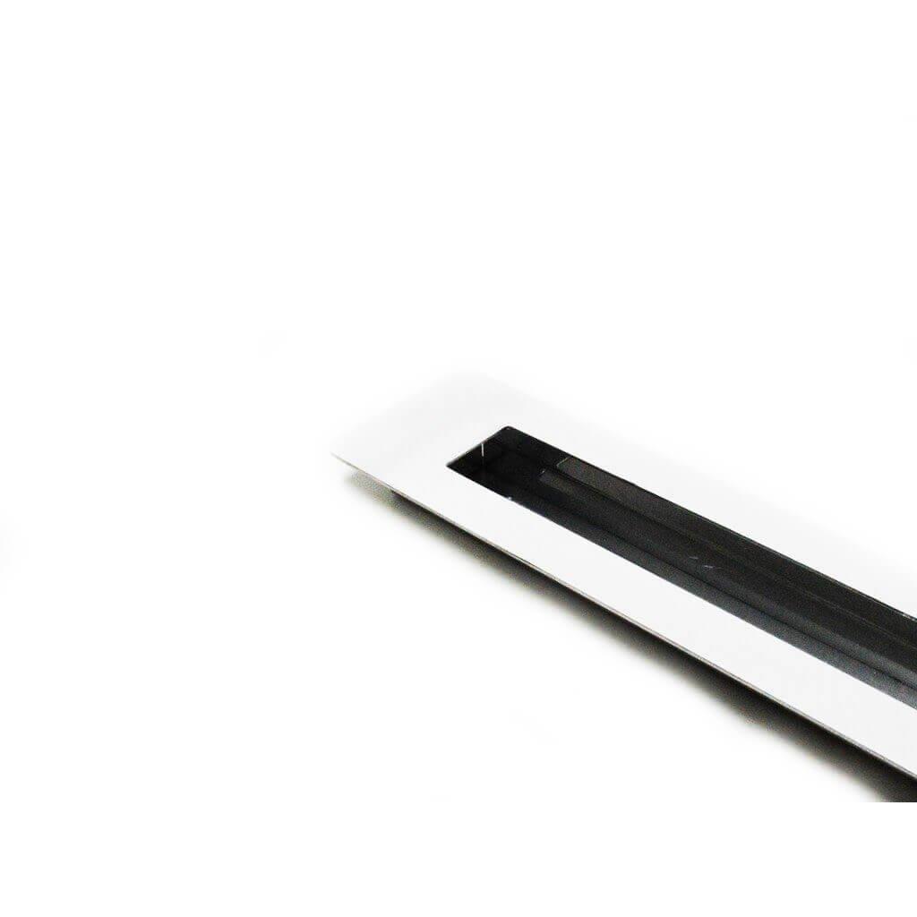 Puxador Portas Embutir Concha Aço Inox Polido 25 cm para portas: pivotantes/madeira/vidro temperado/porta alumínio e portões   - Loja do Puxador
