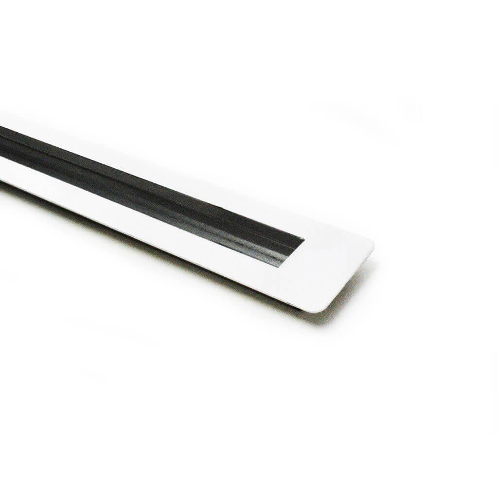 Puxador Portas Embutir Concha Aço Inox Polido 80 cm para portas: pivotantes/madeira/vidro temperado/porta alumínio e portões   - Loja do Puxador