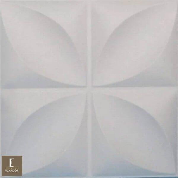REVESTIMENTO PAINEL PAREDE 3D  ALTO RELEVO 50x50 ( 3D BOARD )  PLÁSTICO PSAI ALTO IMPACTO MODELO FLORATA BRANCO valor por placa.