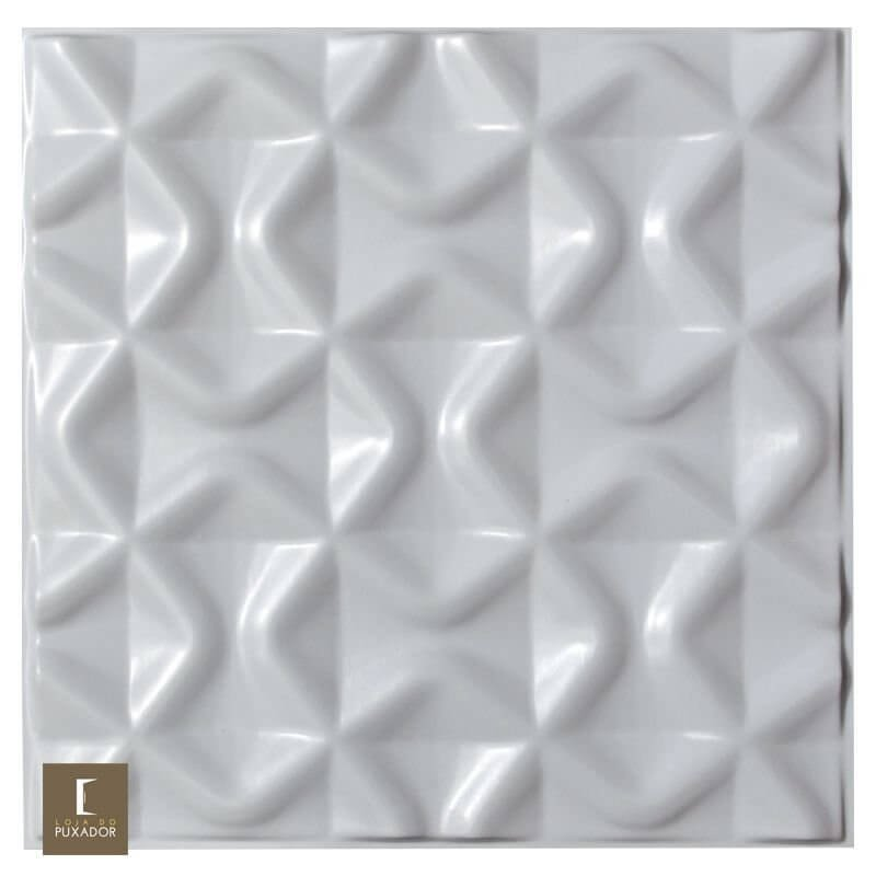 REVESTIMENTO PAINEL PAREDE 3D ALTO RELEVO 50x50 ( 3D BOARD )  PLÁSTICO PSAI ALTO IMPACTO MODELO LION BRANCO valor por placa.