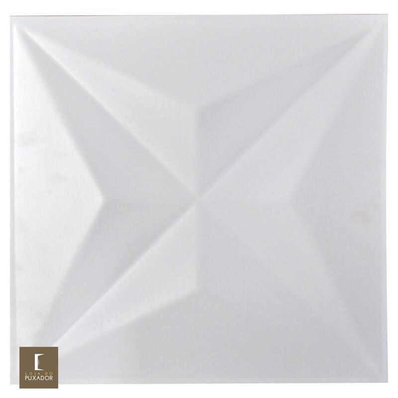 REVESTIMENTO PAINEL PAREDE 3D ALTO RELEVO 50x50 ( 3D BOARD )  PLÁSTICO PSAI ALTO IMPACTO MODELO STAR BRANCO valor por placa.
