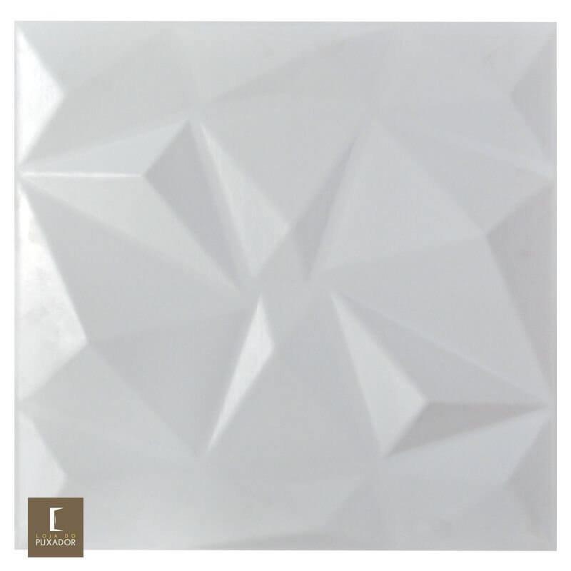 REVESTIMENTO PAINEL PAREDE 3D  ALTO RELEVO 50x50  ( 3D BOARD )  PLÁSTICO PSAI ALTO IMPACTO MODELO TRIANGULATO BRANCO valor por placa.