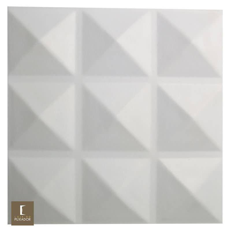REVESTIMENTO PAINEL PAREDE E TETO 3D  ALTO RELEVO 50x50  ( 3D BOARD )  PLÁSTICO PSAI ALTO IMPACTO MODELO CRETA BRANCO valor por placa.