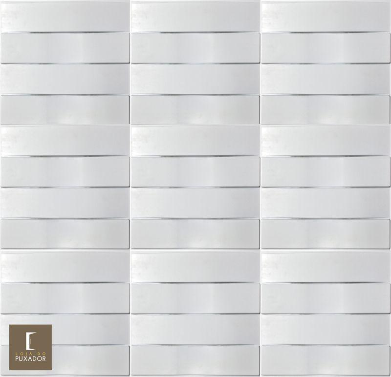 REVESTIMENTO PAINEL PAREDE 3D ALTO RELEVO ( 3D BOARD )  PLÁSTICO PSAI ALTO IMPACTO 50X 50 MODELO ONDULA BRANCO valor por placa.  - Loja do Puxador