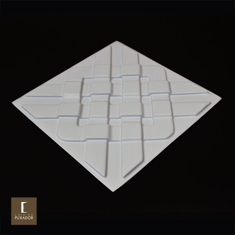 REVESTIMENTO PAREDE E TETO 3D PAINEL ALTO RELEVO ( 3D BOARD ) PLÁSTICO PSAI ALTO IMPACTO 30 X 30 MODELO NILLE BRANCO valor por placa.  - Loja do Puxador