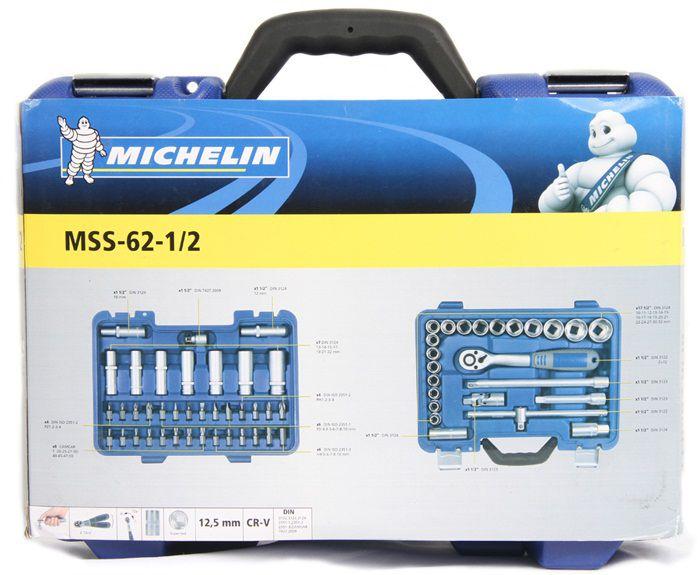 Jogo de Soquetes Profissional Cromo Vanadio 62 Peças 1/2 ´´ - mss6212 Michelin