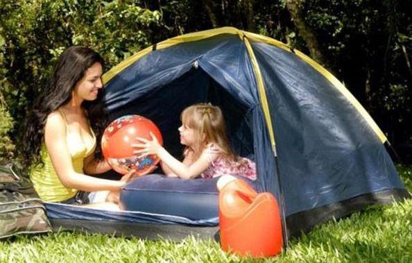 Barraca Camping Pesca Iglu Canastra 4 a 5 pessoas Amarela - Yankee