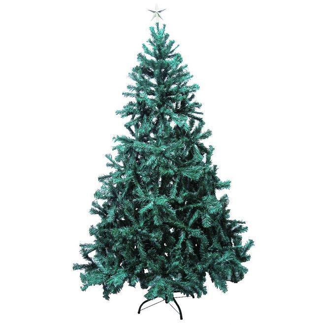 Arvore de Natal Pinheiro Nova Real 2,40m Verde 1380 galhos 7,5k + Ponteira Brinde - Natalia Chr