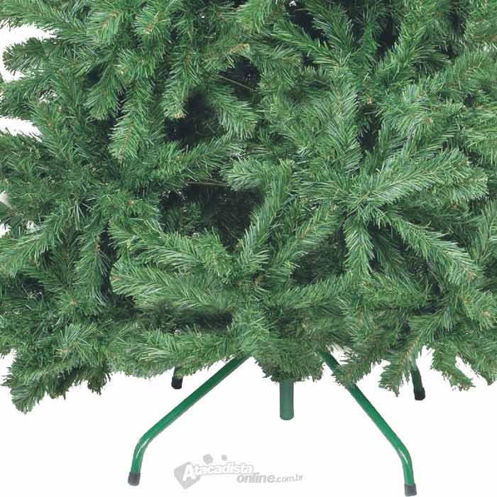 Arvore de Natal Pinheiro Nova Real 1,80m Verde  870 galhos 5,7Kg com Ponteira e Pés metal  - Natalia Chr