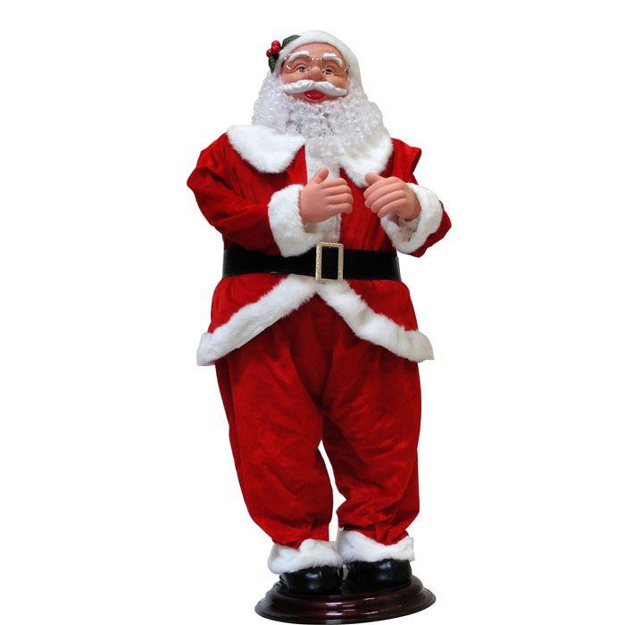 Papai Noel Eletronico - 1,2m em pe - c Musica e Movimento - Bivolt - E207284 - Natalia Christmas