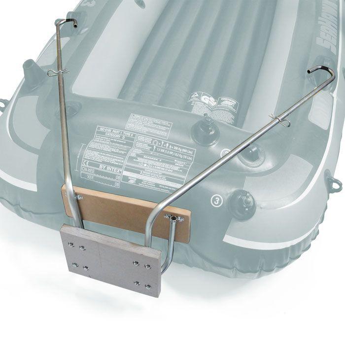 Suporte Motor Bote Inflavel c/ Alongador Universal Popax