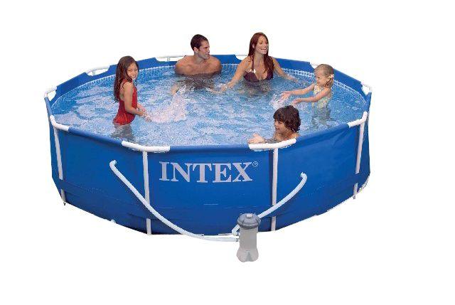 Piscina Estruturada Intex 6503 litros 3,66m com motobomba filtrante 127V - 56998 Intex