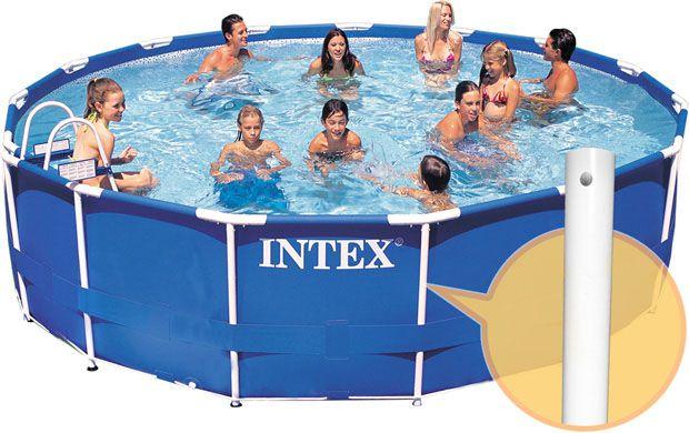 Piscina Estruturada Intex 14.614 litros 4,57m com motobomba filtrante 127V -  Intex