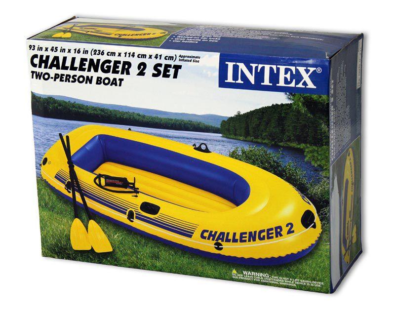 Bote Inflavel Intex Challenger 200 - 2 Pessoas + Remo e Fole - 68367