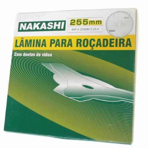 Lamina Faca 40 Dente Roçadeira 255 x 25,5 x 3,0 mm Nakashi