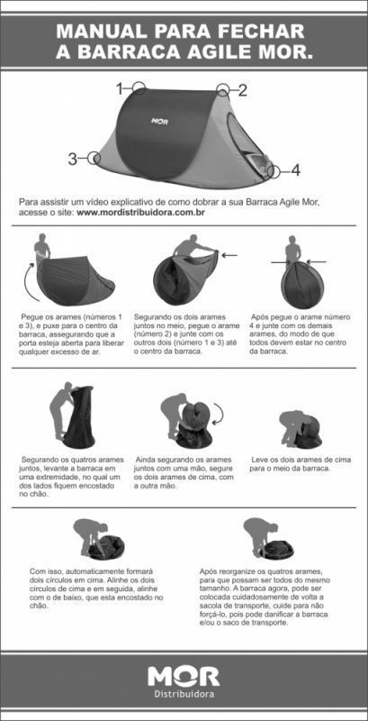Barraca Camping Agile Auto Armável 2 Pessoas Mor