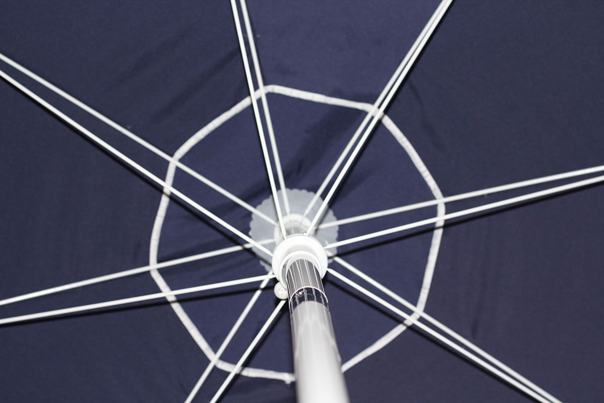Guarda Sol Ombrelone Articulado Manivela 2,4m Alum 3727 Mor