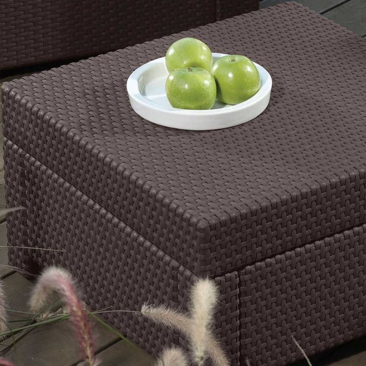 Conjunto Humber Poltronas Sofas e Mesa centro Chocolate - Keter