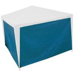 Parede de Tenda Gazebo 3x2m Azul / Branco c/ Corda Capakit