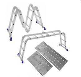 Escada Multifuncional 12 degraus  4x3 Duas Plataformas Andaime - Mor