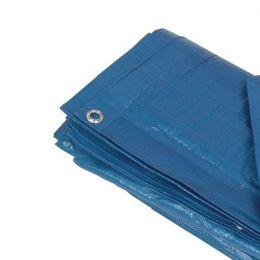 Lona de Cobertura Azul 6x5m c ilhos - 140gm - 180 micras - Strong